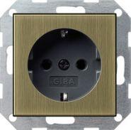 Gira S-55 Бронза/Антрацит Розетка с/з(0188603)