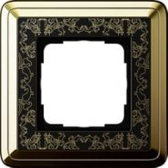 Gira ClassiX Art Латунь/Черный Рамка 1-ая(0211672)