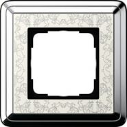 Gira ClassiX Art Хром/Кремовый Рамка 1-ая(0211683)