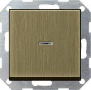 Gira S-55 Бронза Выключатель с клавишей с подсветкой(0136603)