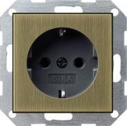 Gira S-55 ClassiX Розетка с з/к без лапок для крепления(0466603)