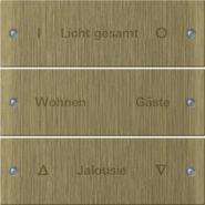 Gira Instabus Бронза Набор клавиш 3-местн.(гравировка)(2133607)