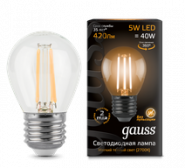 Лампа Gauss LED E27 5W 2700K