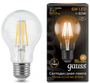 Лампа Gauss LED E27 6W 2700К