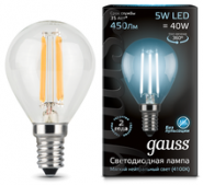 Лампа Gauss LED E14 5W 4100K