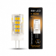 Лампа Gauss LED G4 AC185-265V 4W 2700K керамика